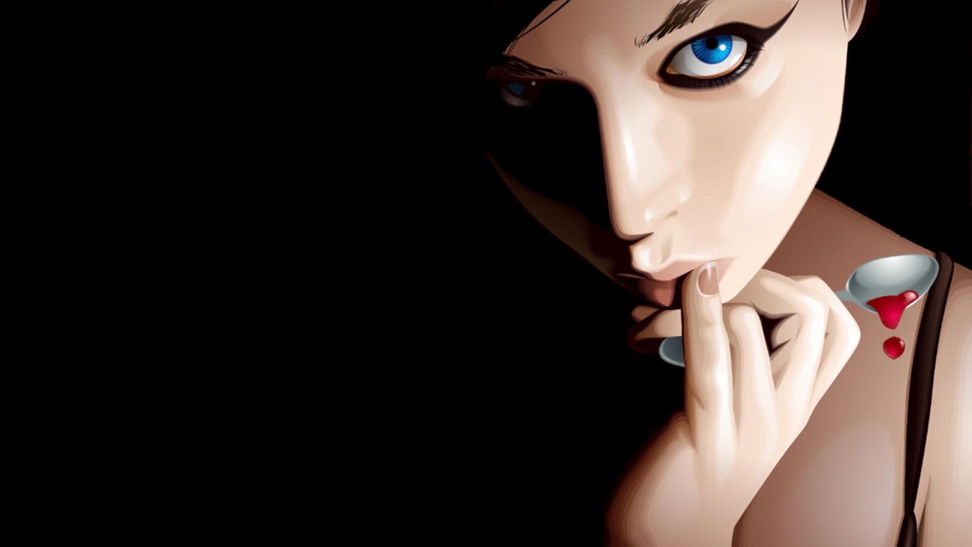 Girl In The Darkness Wallpaper 1920x1080 | Img Need
